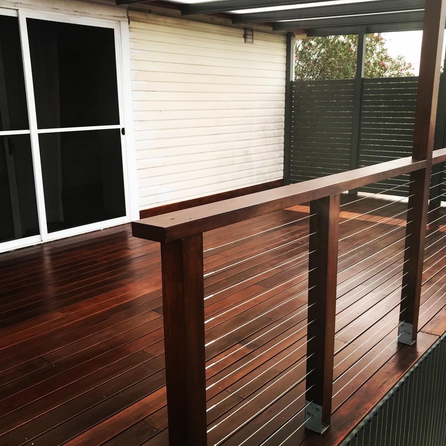 Re-stained deck
